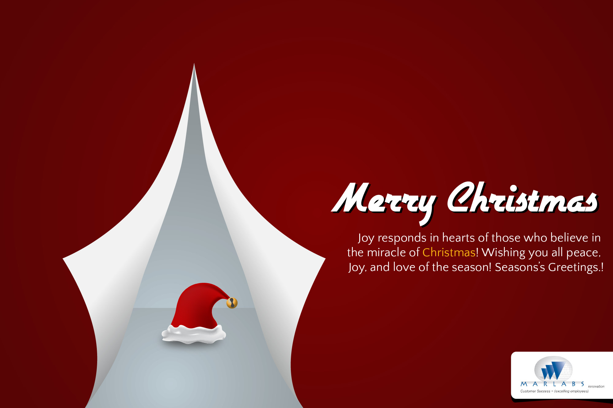 Beautiful Collection Of Free Business Christmas Card Templates ...